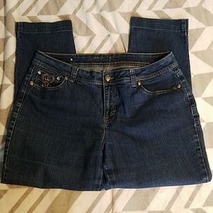 Style & Co. Premium Embroidered Crop Jeans Sz 14